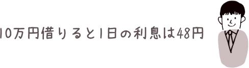 10万円借りた時の利息イメージ